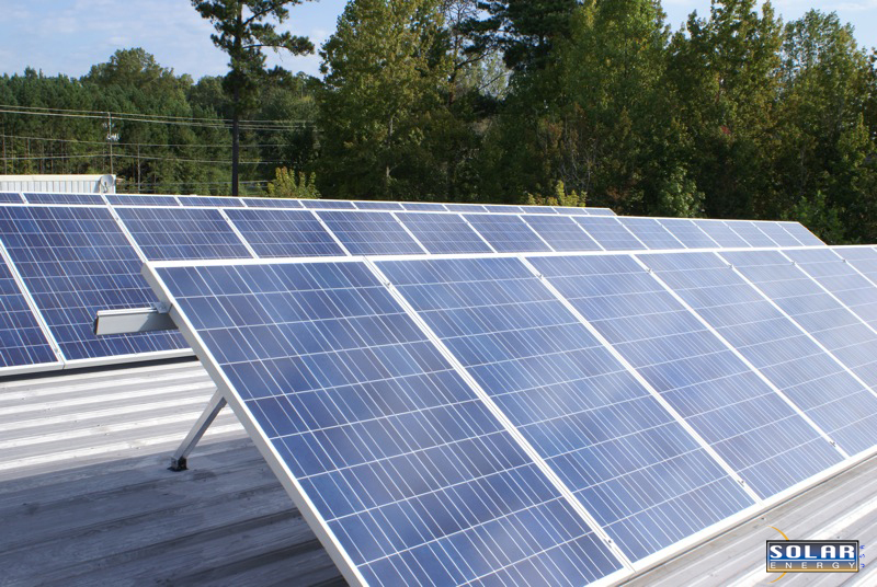 Commercial solar energy system install