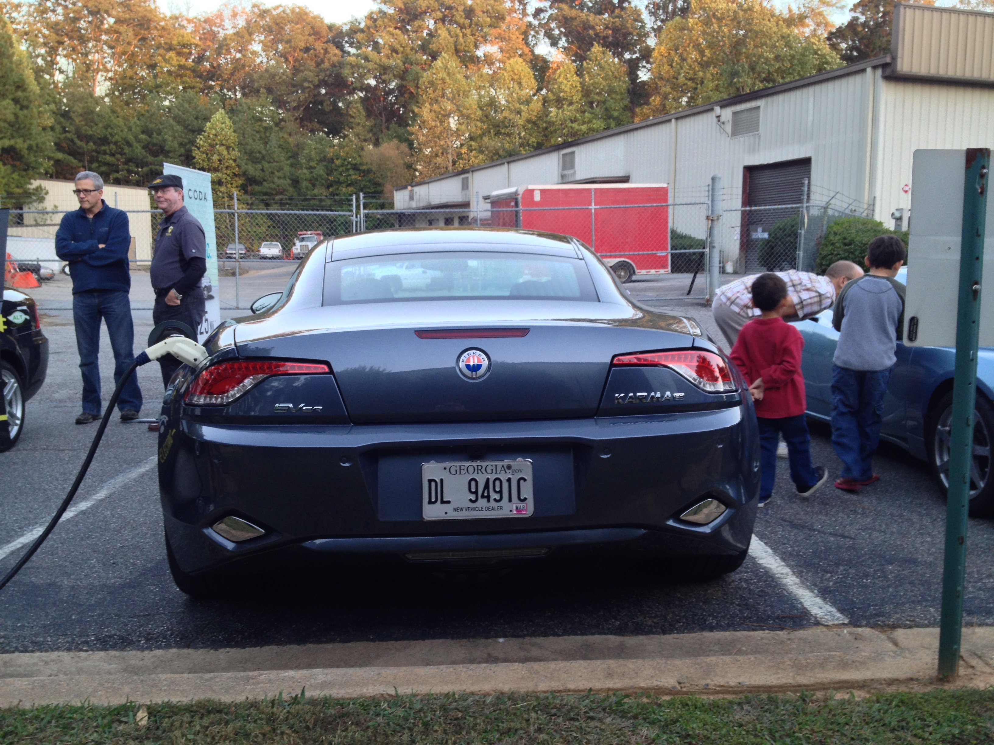 Rear Fisker Electric C Ar Show