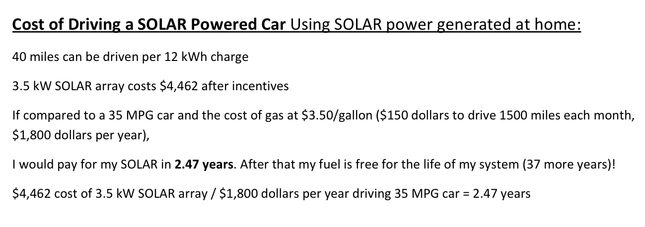 Electric Car Vs Gas Ysis Cost Of